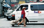 A FedEx van in China