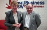 NSW Small Business Commissioner Robyn Hobbs with POAAL's Bob Chizzoniti