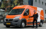 One of the new electric vans introduced by TNT in The Netherlands