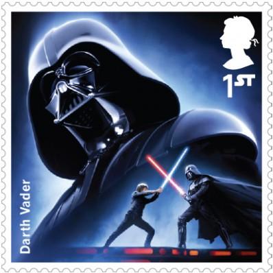Darth Vader Royal Mail Star Wars stamp