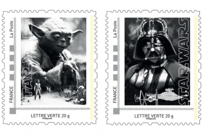 Star Wars stamps from France's La Poste