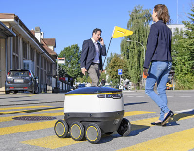 Swiss Post will be testing delivery robots by Starship Technologies.