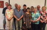 Australia Post's Geoff Hyland (fourth from left) with some of the Licensees at POAAL's Meet 'n Eat in Campbell Town