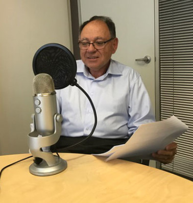 POAAL NSW/ACT Branch Chairman Bob Chizzoniti recording an episode of the POAAL Podcast