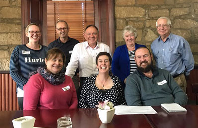 POAAL Tasmanian Branch Chairman Chris Dancer and POAAL's Bob Chizzoniti with some of the Tasmanian Licensees at POAAL's meeting in Ross