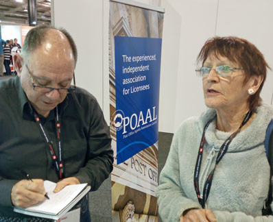 POAAL's Bob Chizzoniti at the LPO Expo in Adelaide