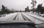 The snowy conditions that greeted POAAL Deputy Chair Chris Rowe on his 700km round trip!