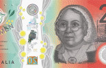 The signature side of the new $20 banknote