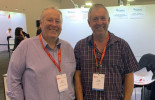 POAAL's Chris Campbell (right) with Australia Post GM Post Office Network, Dave McNamara