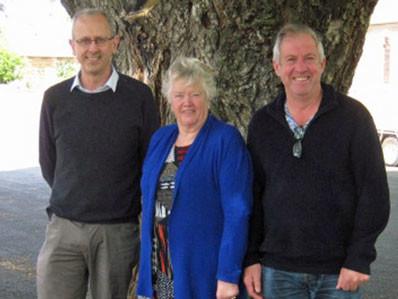 POAAL Tasmania Deputy Chair Chris Rowe, POAAL Tasmania Chairman Chris Dancer, and POAAL's Chris Campbell